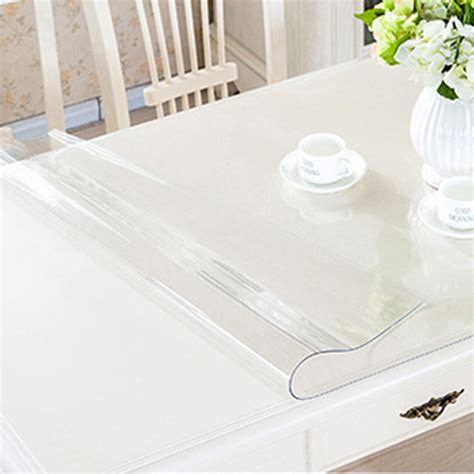 Dining Room Table Protector yazi pvc clear tablecloth waterproof table protector
