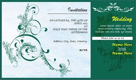 Whatsapp Wedding Invitation Card Template by Word Excel Templates