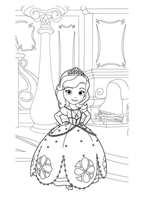 sofia the first coloring page coloring pages for adults