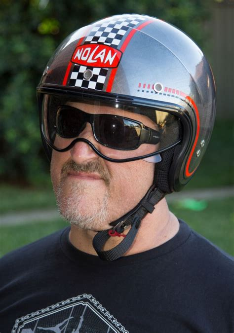 Pomade Nolans nolan n21 helmet tested any cooler and it d be a frozen polar bike me