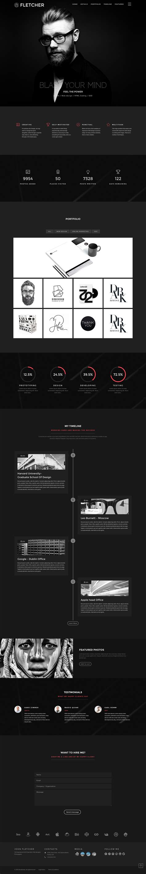 fletcher one page template review