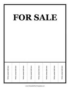 for sale template with tear offs for sale flyer