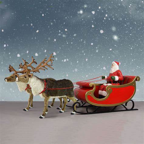 nordic reindeer with santa sleigh 150 quot santa display
