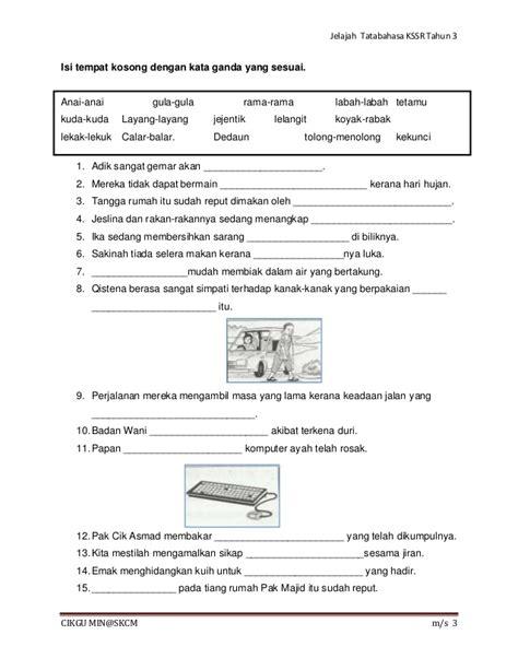 teks prosedur membuat layang layang bahasa indonesia latihan tatabahasa kssr tahun 3 kata sendi nama