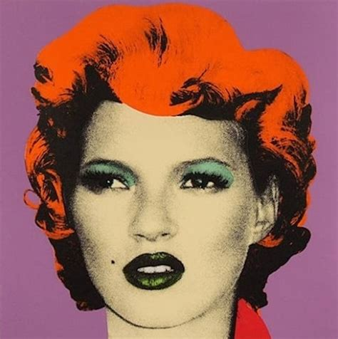 Warhol Vs Banksy Exhibition Features Kate Moss Image by Banksy S Kate Moss Auction