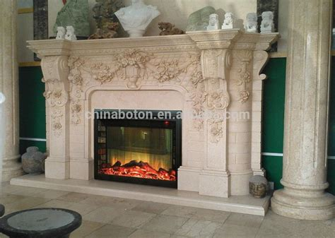 modern style fireproof material marble fireplace mantels