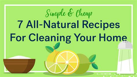 7 Recipes For Cleaners by 7 Recipes For Cleaning Products For Your Home