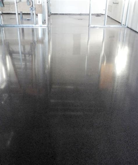 Beautiful Black Stained Polished Concrete Floor   TTM