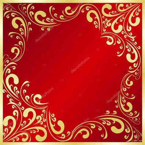 imagenes de vectores rojos fondo rojo de lujo decorado un marco dorado vector de