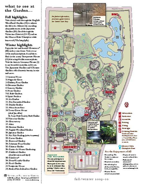 map missouri botanical garden missouri botanic gardens map st louis mo mappery
