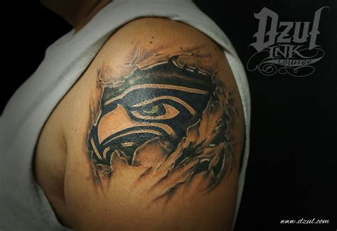 seahawks tattoo seahawks me myself i