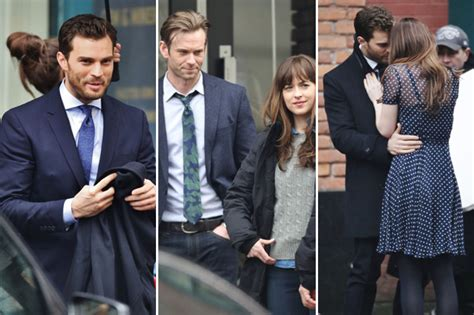 fifty shades darker filming cancelled dakota johnson and jamie dornan spotted filming fifty