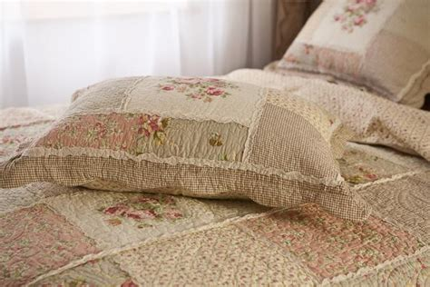 quilted cotton coverlet queen country floral patchwork quilted cotton coverlet