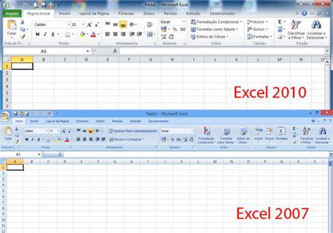 tutorial excel 2010 em portugues diferen 231 as entre excel 2007 e 2010