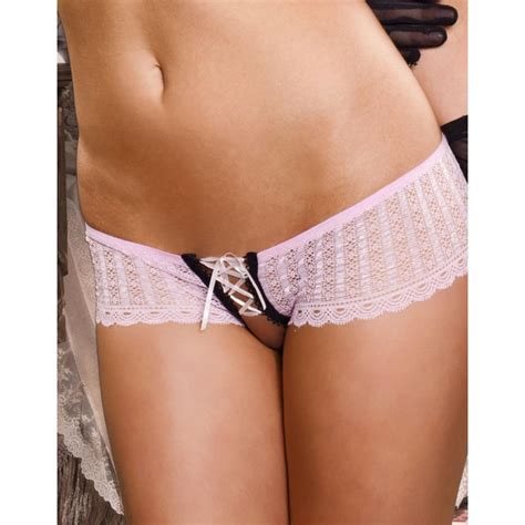 crotchless with lace up crotchless