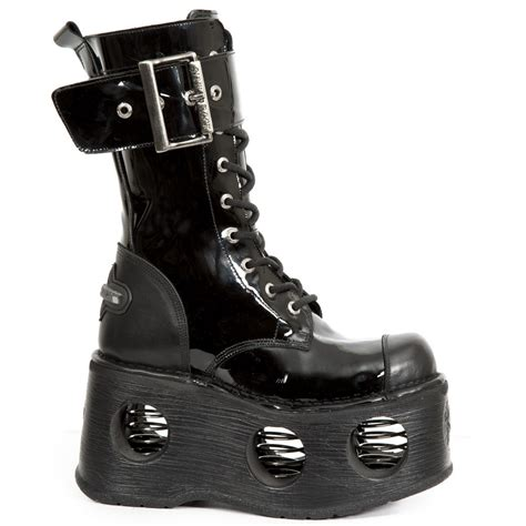 m 312 s5 patent platform new rock boots with