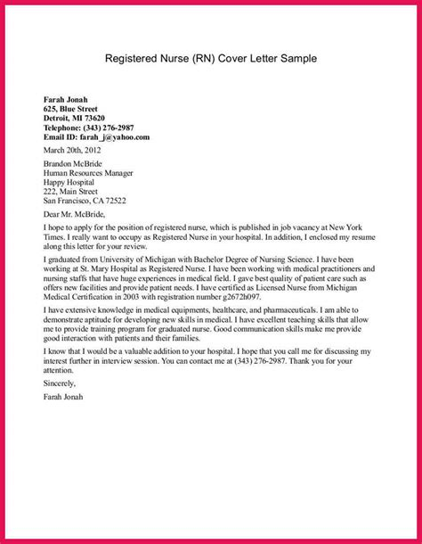 cover letter for student nursing student cover letter sop exles