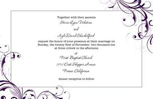 Wedding Menu Sles Templates by Wedding Invitation Mail Format For Wedding