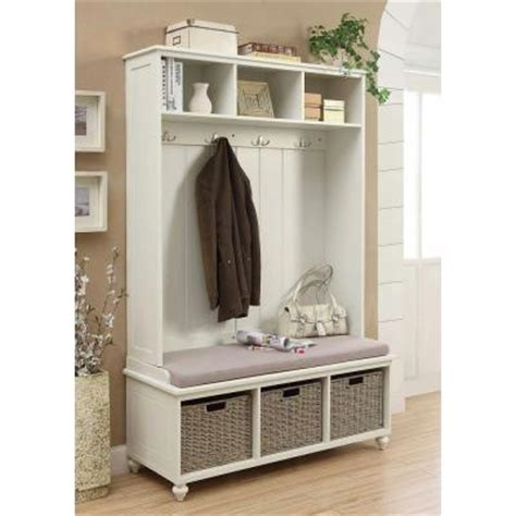 entryway bench hutch home decorators collection amelia wooden wall hutch in