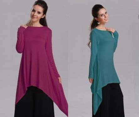 Set Muslimah trendy muslimah blouse set