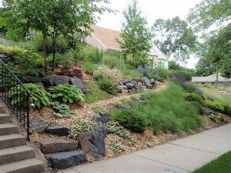 front yard slope solution garden landscape ideas pinterest