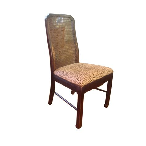 5 Vintage Chippendale Style Faux Animal Cane Dining Dining Chairs