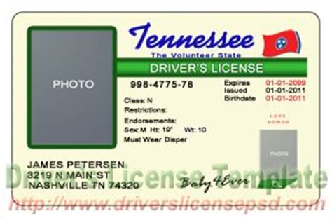 tennessee id card template drivers license drivers license drivers license