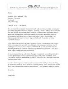 Sample Cover Letter: Sample Cover Letter Director Of