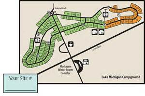 Muskegon State Park Campground Map muskegon amp duck lake state parksmaps amp area guide