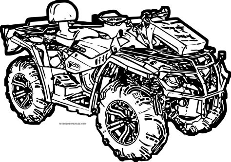four wheeler coloring pages murderthestout and wheelers