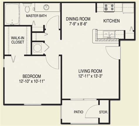 Floor Plans For One Bedroom Apartments by One Bedroom Apartment Floor Plans House Plans