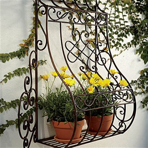 Wrought Iron Wall Planters Outdoor by Metal Wall Planter Outdoor Pots And