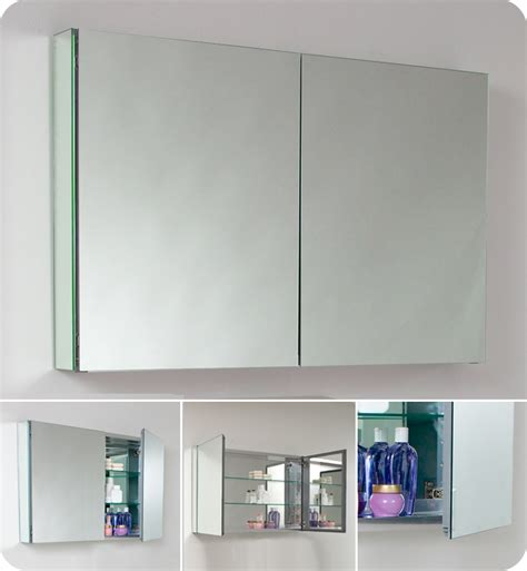 wide mirrored bathroom cabinet fresca 40 quot wide bathroom medicine cabinet w mirrors