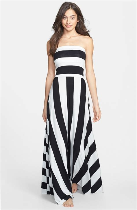 Maxy Stripe black and white striped maxi dress dress ty