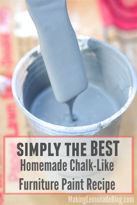 chalk paint diy recipe best chalk like paint recipe lemonade