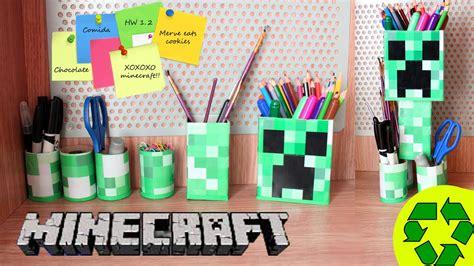 minecraft arts and crafts projects back to school crafts minecraft desk organizer