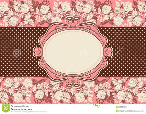 vintage style floral background with pink blooms royalty vintage card with roses flowers stock vector image 33032466