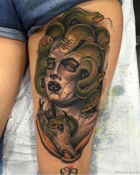 best thigh tattoos 40 best medusa tattoos for thigh