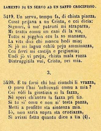 malarazza testo canzoni contro la guerra lamentu di un servu ad un santu