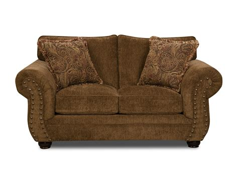 simmons antique memory foam sofa simmons loveseat chocolate