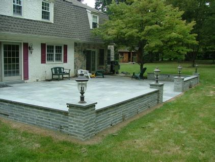 patio wall ideas patio wall ideas bluestone patio with tumbled bluestone