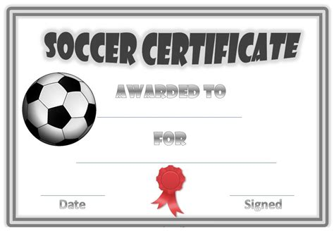 soccer certificate template free soccer award certificates activity shelter