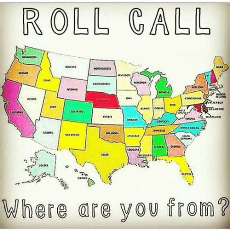 Where Are You Meme - roll call milt matland where you from meme on sizzle