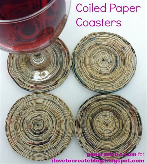 How To Make Paper Coasters - coiled paper coasters ilovetocreate