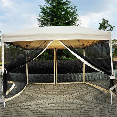 Outdoor Patio Canopy by Outdoor Gazebo Canopy 10 X 10 Pop Up Tent Mesh Screen