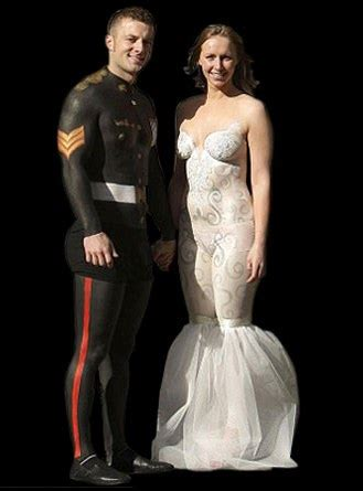 save money use paint wedding unveils funny wedding photos the most insane wedding dresses you ve ever seen would