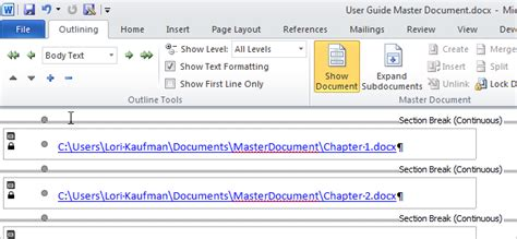 how do you make a calendar in docs create a master document in word 2010 from documents