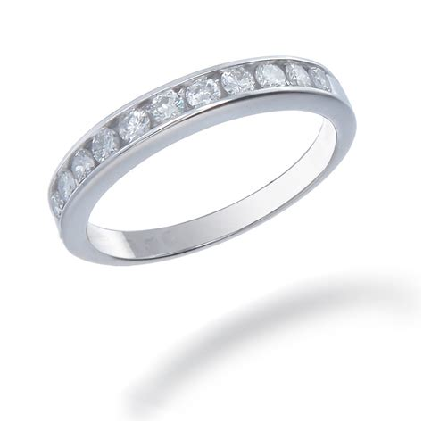tcw womens diamond wedding band set   white gold