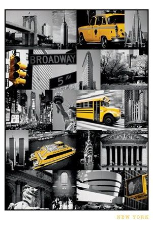 Stelan Pp White New York Rsby 417 new york collage colour light montage poster buy
