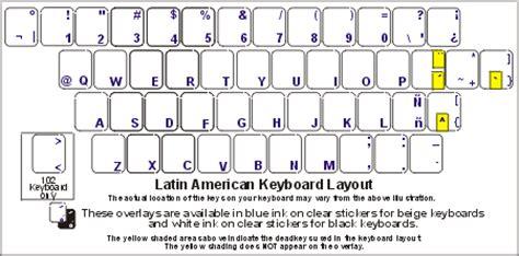 keyboard layout latin american chilean spanish keyboard labels dsi computer keyboards